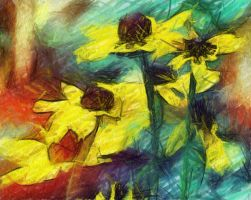 Yellow Flowers by ahley