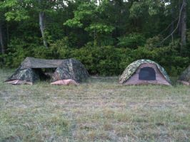 Marines Camping Out by HawaiianMarine