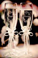 Wedding Champayne Glasses by Casslass