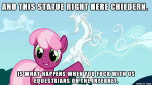 Cheerilee teaching the class about trolling. by SharpySaber