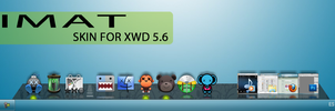 Skins iMat For XWindows Dock 5.6 by vizhiible
