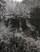 Snow on Blackwater Falls by TRBPhotographyLLC