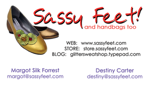 New Sassy Feet Business Card by Destiny-Carter