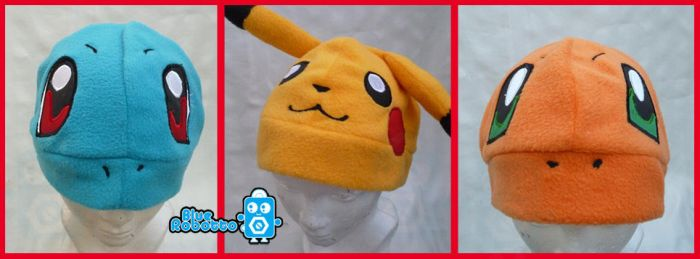 Pokemon hats by BlueRobotto