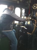Me on the driving seat of A1 Tornado by YanamationPictures