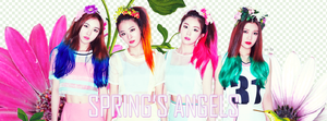 [FACEBOOK COVER] Red Velvet - Spring's Angels by Dorkysica