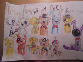 Five Nights at freddy's by Pani-Vincent