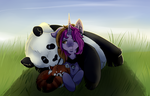 Panda Hugs by BeyondTheIllusion