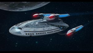 Star Trek Ship 3D Commission by AdamKop