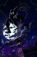 Spiderman+Nightwing by charco