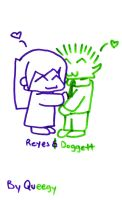 Doggett and Reyes by queegy