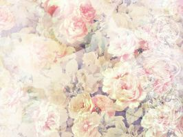 vintage texture_roses by unread-story