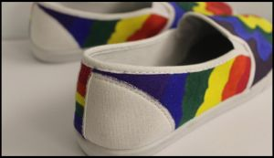 Painted Day of Silence Shoes - 3 by Karen73