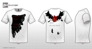 And a pigeon died on my back(t-shirt challenge) by GeorginoschkaVincen