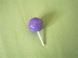 Purple Polymer clay lollipop by FullmetalDemigod
