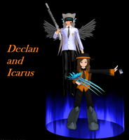 Declan and Icarus by SilverStarlite