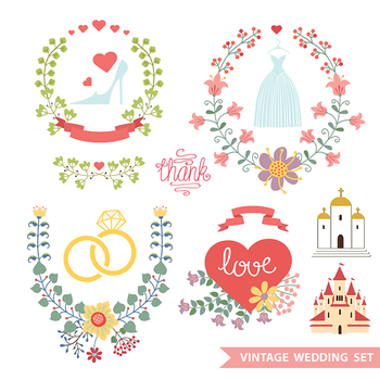 Cute Floral Wedding Composition by dryopus