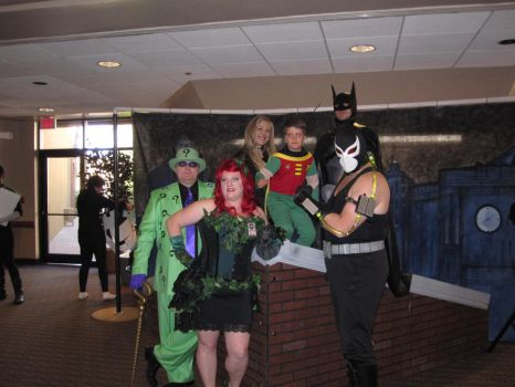 Bane, Batman, Robin, The Riddler, and Ivy by Silverwolf12