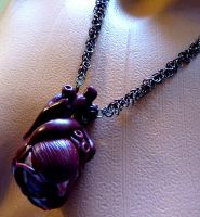 Human Heart Set Necklace by Divulged