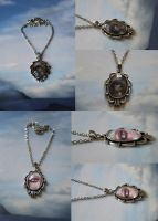 Eye Spy Necklaces No 1+2 by IdaLarsenArt