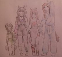 The Four Siblings by AbominalSnowDemon