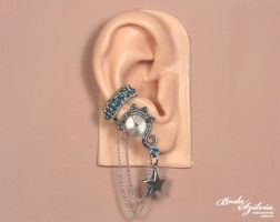 Frost steampunk ear cuff by bodaszilvia