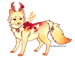 Flower Fox Adopt [CLOSED] by dayylights