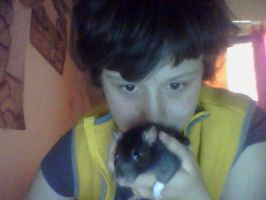 Me with my ratty Oreo by Me-MowTheCat