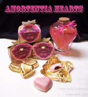 Amortentia Hearts - Harry Potter themed candy by TheCopperDragon2004