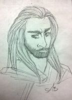 Work doodle: Thorin by chai--tyto