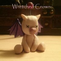Polymer clay Moogle by WretchedCrown