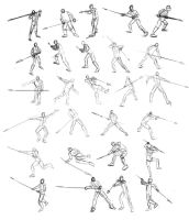 Game of Thrones Spear Poses by TimothyWilson