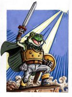 The Amphibian Hero by JRtheMonsterboy