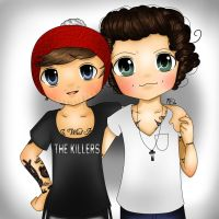 Harry Styles And Louis Tomlinson by AngelNightmare1441