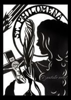 St Philomena Silhouette by natamon