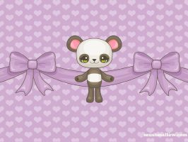 Precious Panda Wallpaper by bombthemoon