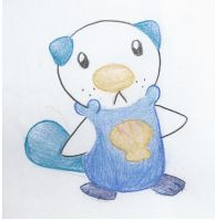 Oshawott by bluegumibear