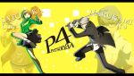 Persona 4 Wallpaper Chie and Yu by Yuhg by yuhg