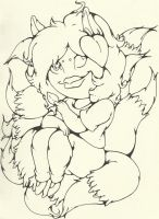 Annoying Fox Woman_INKS by InkBottleInc