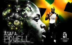 TRIBUTE TO ASAFA POWELL by innografiks