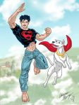 Superboy and Krypto by Boy-Meets-Hero