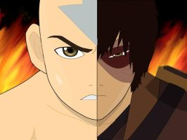 Half Sides - Zuko and Aang by firebender-aaa