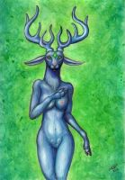 Stag Woman by squeakychewtoy