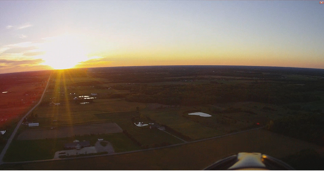 Sunset from a Model Glider by rcbif