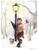 Mr. Tumnus at the Lamp-Post by TheInklingGirl
