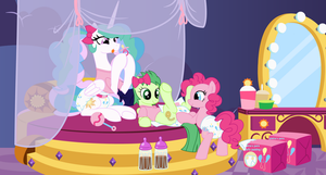 Puffy Pinkie Padding Party by EvilFrenzy
