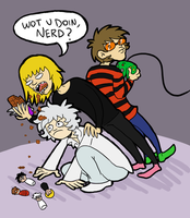 Death Note: Matt, Mello and Near by indecisivepancake