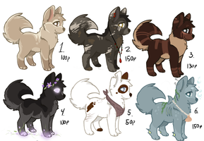 Dog/wolf adoptable - ONE MORE OPEN 40 % off! by BeCarefulPaint