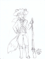 American Colonial Soldier Fox by JohnZScott