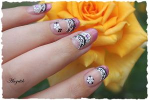 Nail Art french stickers by Angelik23